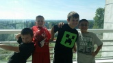 From left: Seth, Michael, Payton, Vinnie