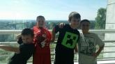 From left: Seth, Michael, Payton, Vinnie