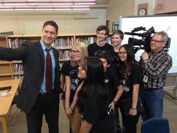 Selfie with CTV News